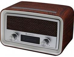 Rádio SOUNDMASTER UR190DBR (Castanho – Alarme Duplo – Função Snooze – Corrente)