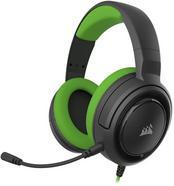 Auscultadores Gaming com Fios CORSAIR HS35 (PS4 / PC / Xbox One – Microfone – Preto e Verde)