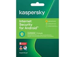 Software KASPERSKY Internet Security ANDROID (2 Dispositivos – 1 ano – Smartphone e Tablet)