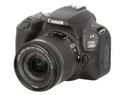 Canon EOS 200D + EF-S 18-55mm f/4-5.6 IS STM + Cartão SD + Bolsa
