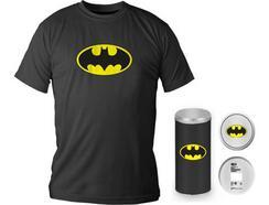 T-Shirt DC COMICS Logotipo Batman Preta XL