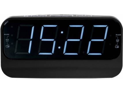 Rádio Despertador CLIPSONIC AR316N Preto (Preto- Digital – Sim – Sim-Corrente)