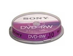 Dvd-Rw Sony 4.7GB Spindle Cake 10