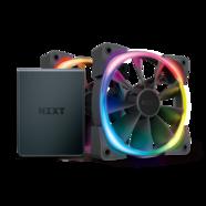 Starter Kit NZXT Controlador HUE 2 + Ventoinha 120mm Aer RGB 2 4 Pinos PWM (Pack 2)