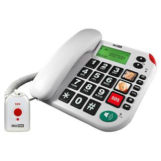 Telefone Fixo MAXCOM KXT481 SOS Branco