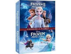 DVD Frozen 1 e 2 – O Reino do Gelo