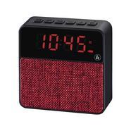 Rádio Despertador HAMA 173168 (Vermelho – Digital – Função Snooze – Pilhas e Bateria)