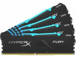 Memória RAM DDR4 KINGSTON HyperX Fury (4 x 8 GB – 2400 MHz – CL 15 – RGB)