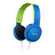 Auscultadores com Fio PHILIPS(On Ear – Microfone– Azul)