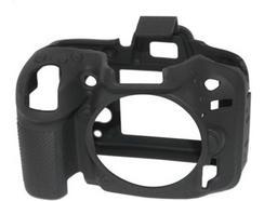 Capa de silicone EASYCOVER Nikon D7100/D7200 Preto