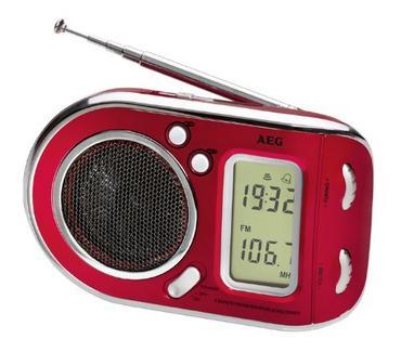 Rádio Portátil AEG TR 4125 (Vermelho – Digital – AM / FM / SW– Pilhas )