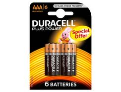 Pilhas DURACELL Plus AAA K6