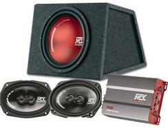 Pack MTX Bass Coluna + Subwoofer + Amplificador