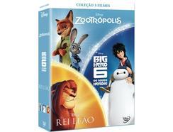 DVD Pack Zootropolis + Big Hero 6 + Rei Leão