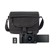 Kit Máquina Fotográfica Mirrorless CANON M50 MII M15-45+SB130+16GB