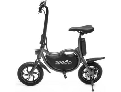 "Bicicleta Elétrica ZEECLO 12"" Preta 4Ah (Autonomia: 15 km / Velocidade Máx: 25 km/h)"