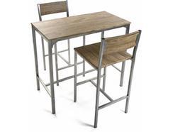 Conjunto Mesa + 2 cadeiras VERSA Madeira