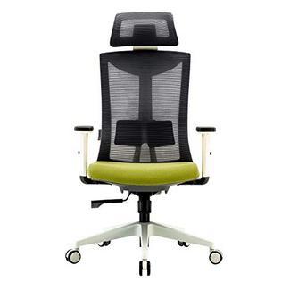 Cadeira de Escritório UMI by Amazon ergonómica e giratória de malha com suporte lombar regulável e apoio de braços de poliuretano e assento acolchoado; carga máxima de 150 kg Verde