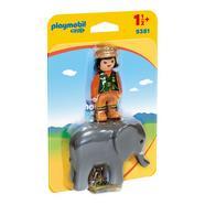 1.2.3 Cuidadora de Elefante Playmobil