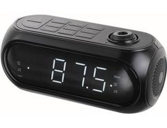 Rádio Despertador CLIPSONIC AR318 (Preto – Digital – Alarme Duplo – Função Snooze – Corrente)