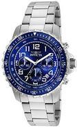 Relógio Quartz Invicta 6621 com mostrador Azul e Bracelete em aço inoxidável