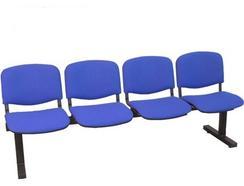 Cadeiras de Receção PIQUERAS Y CRESPO Villatoya Azul (4 lugares – Tecido)