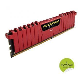 Corsair C16 DDR4 DRAM 2666 MHz 16 GB (2x8GB) Vengeance LPX – Vermelho