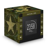 Bigben Interactive RR70PARMY Relógio Digital Preto, Verde rádio