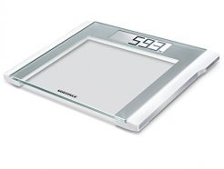Soehnle Style Sense Comfort Electronic Bathroom Scale - 200 Scale, Silver/White