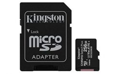 Kingston 256GB Micro SD Canvas Select Plus Class10 UHS-I + Adaptador - SDCS2/256GBSP